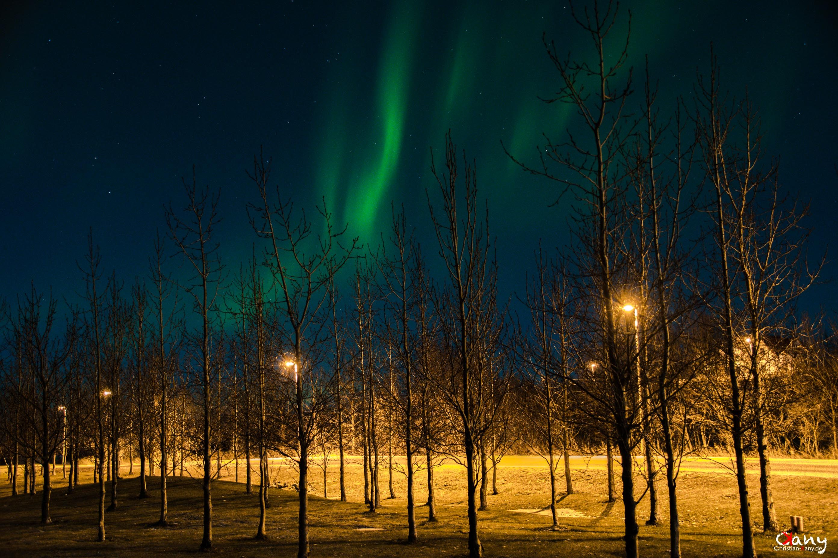 Aurora Borealis at the street