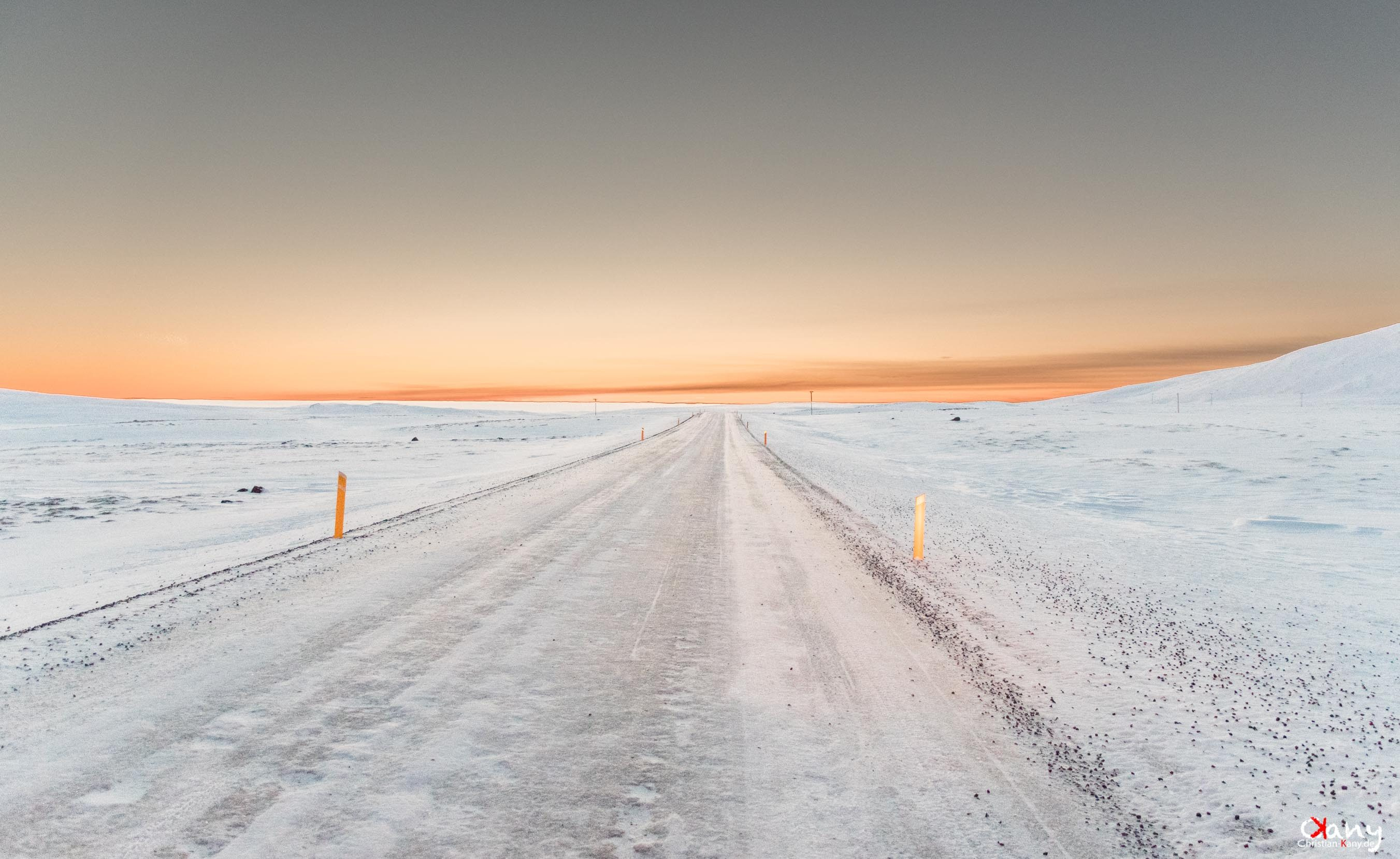 Iceroad in Iceland